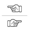 pointing vector image