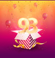 93rd years anniversary design element vector image vector image