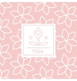 Abstract Figure Pink Yoga Studio Design Card vector image