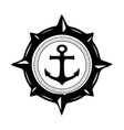 anchor navy logo design vector image