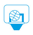basketball board icon vector image vector image