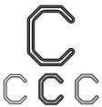 Black line c logo design set vector image vector image