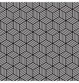 bold cube pattern background black white vector image vector image