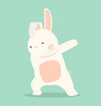 bunny funny dabbing movement vector image