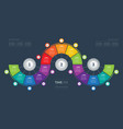 business presentation concept with fifteen steps vector image vector image