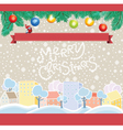 Cartoon Christmas Template vector image