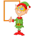 Cartoon elf giving a thumbs up