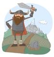 Cartoon viking vector image vector image