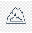 cave concept linear icon isolated on transparent vector image