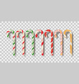 christmas candy sticks vector image