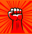clenched fist raised up strong vector image vector image