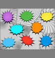 comic colorful speech bubbles composition vector image