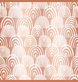 copper foil rainbow shapes seamless pattern vector image
