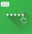 customer reviews rating user feedback icon vector image vector image