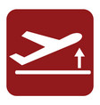 departure take off plane icon simple vector image