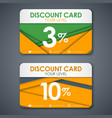 Discount cards in style of material design