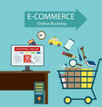 e-commerce online business vector image
