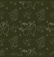 Farm product seamless pattern vegetables