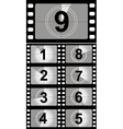 Film countdown numbers vector image vector image