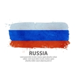 flag russia moscow vector image