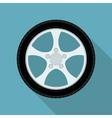 flat wheel vector image vector image
