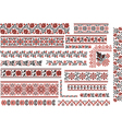 Floral Red and Black Patterns for Embroidery Stitc vector image vector image