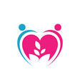 growing love together icon sign a lover keep vector image