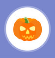 halloween pumpkin icon sign symbol vector image vector image