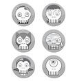 Haloween skulls vector image