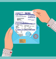 hands holds envelope with tax declaration vector image