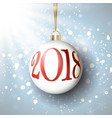 happy new year bauble background vector image vector image