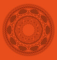 indian mandala emblem vector image vector image