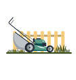 lawn mower machine icon technology equipment tool vector image