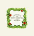 light christmas wreath template vector image vector image