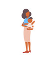 loving mother holding her little newborn baby vector image