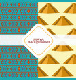 maya culture background vector image vector image