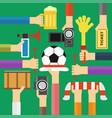 modern soccer fan flat design vector image vector image