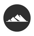 mountains landscape nature block and flat icon vector image