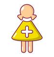 nurse icon cartoon style vector image vector image
