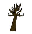 old bare tree comic cartoon vector image vector image