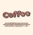 original vintage handcrafted alphabet retro vector image vector image