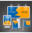 Outdoor advertising template vector image