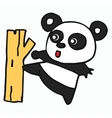 Panda cartoon for t-shirt design vector image vector image