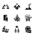 political election icon set simple style vector image vector image