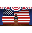 Presidential election banner background vector image vector image