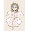 Pretty angel girl vector image