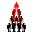pyramid company structure leader subordination vector image vector image