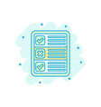 questionnaire icon in comic style online survey vector image vector image