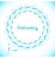 realistic water drops speech bubble vector image vector image