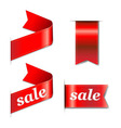 Red Web Sale Ribbons Set vector image